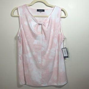 NINE WEST Sleeveless Top with Knotted Neckline, M